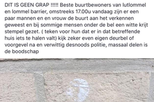 Verdachte krijttekens op woningen Lommel: politie roept op extra waakzaam te zijn