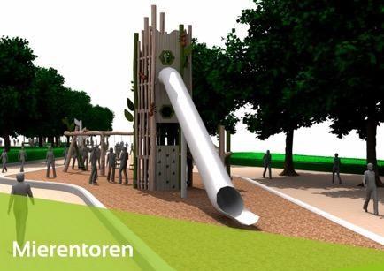 Nieuw speelpark tussen Lieteberg en Sporthal