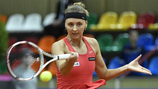 Geen dubbelfinale tussen Elise Mertens en Maryna Zanevska in Boekarest