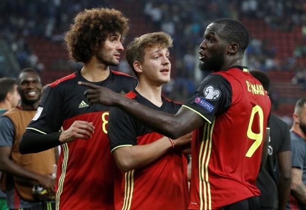 Jonge Duivels-fan viert WK-kwalificatie mee op het veld