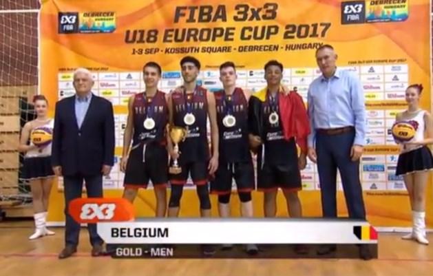 Belgische jongens basket 3x3 pakken na WK-goud ook Europese titel