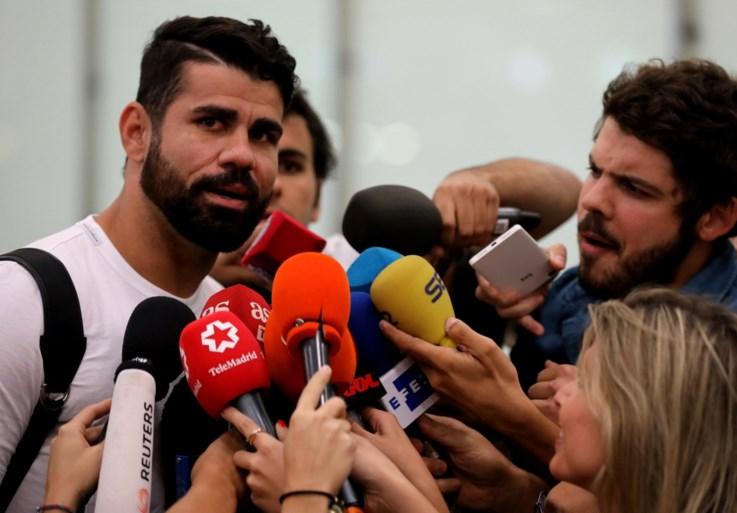 """Diego Costa in Madrid om transfer naar Atletico af te ronden: """"Eén persoon zal mijn imago niet kunnen bezoedelen"""""""