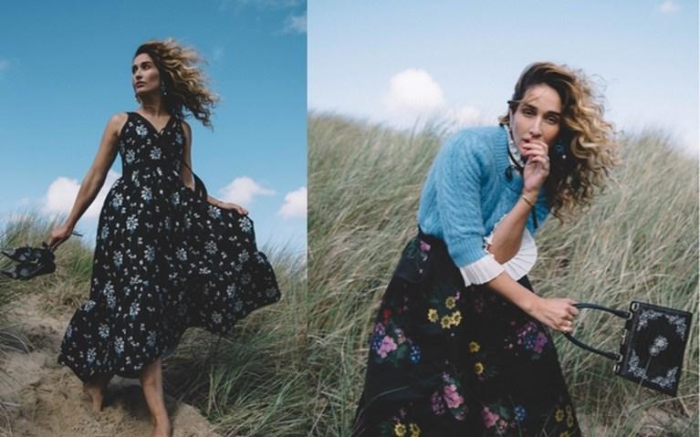 Belgische modellen en een botanische binnentuin: Erdem voor H&M groots voorgesteld in Los Angeles