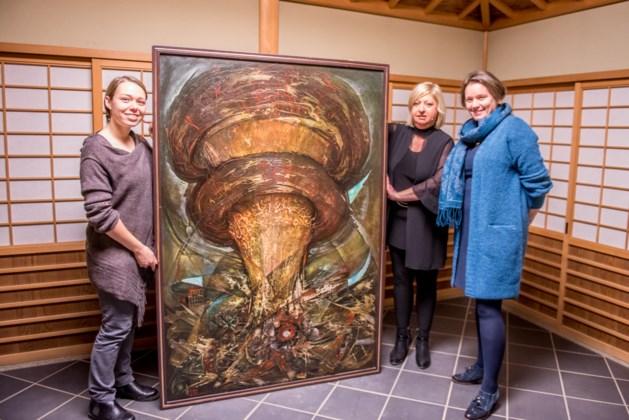 Dochter Reinhilde schenkt 'Hiroshima' schilderij van Paul Eurlings aan Japanse Tuin