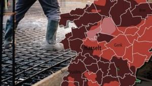 KAART. Betonstop of blijven bouwen zonder zonder maatregelen: Stijgt het overstromingsrisico in uw gemeente?