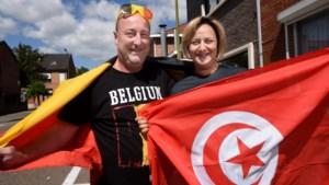 """Tunesisch-Belgisch koppel kijkt uit naar tweede match Rode Duivels: """"4-1 voor België"""