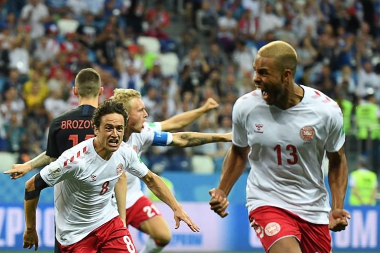 Penaltyheld Subasic schenkt Kroatië kwartfinale na spectaculaire strafschoppenreeks, Denemarken is uitgeschakeld