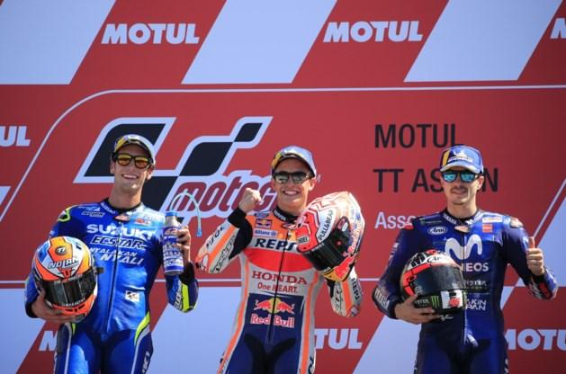 Spanjaard Marc Marquez wint MotoGP van Nederland in Assen, Siméon moet opgeven