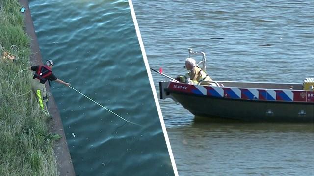 Persoon valt in de Maas: scheepvaartverkeer ligt stil