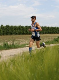 "Chris Wouters, ""the one man army"" van het Maes SQM Running Team"