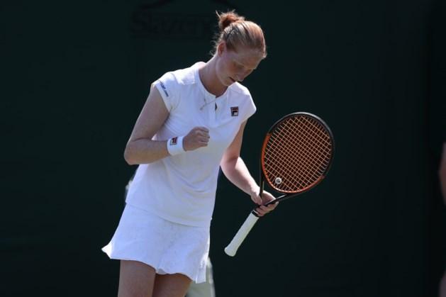 Alison Van Uytvanck begint sterk aan Wimbledon en speelt in tweede ronde tegen titelverdedigster