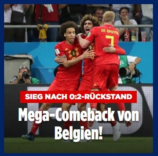 "Internationale pers lyrisch over comeback Rode Duivels: ""Historische remontada"" en ""Mega-Comeback"""