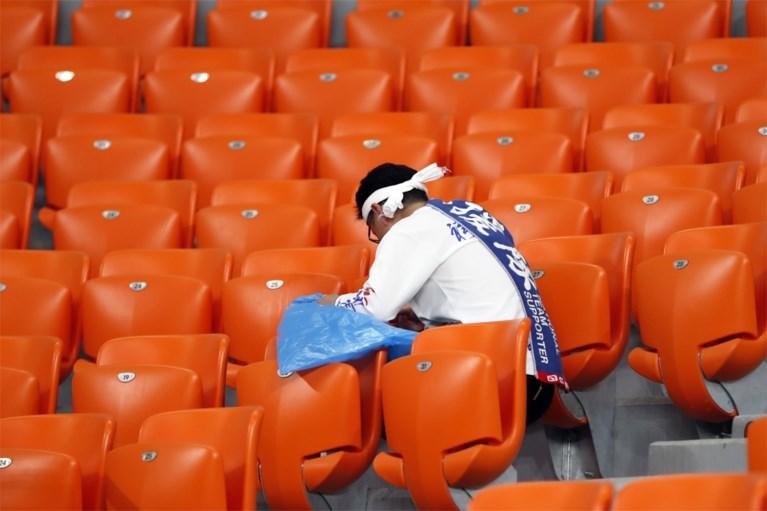 Klasse: Japanse fans ruimen stadion op na pijnlijke WK-exit, ploeg laat dankbriefje achter