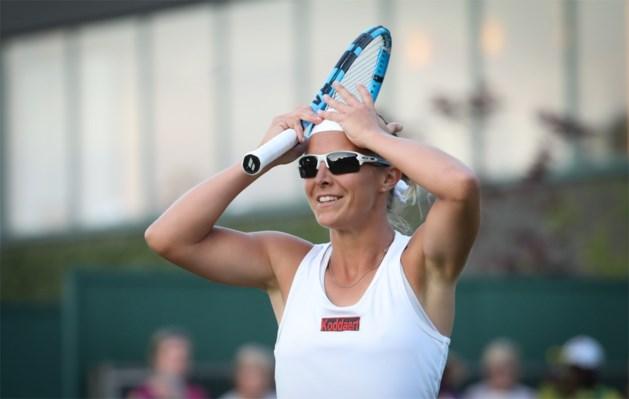 Kirsten Flipkens plaatst zich in twee sets voor tweede ronde op Wimbledon