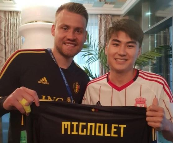Simon Mignolet bezorgt fan uit Kyrgyzstan een onvergetelijk moment