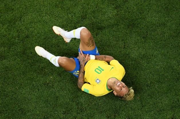 Opgeteld: Neymar lag al bijna een kwartier op de grond op dit WK