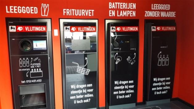 Supermarkt installeert als eerste in Limburg volledige recycleerautomaat