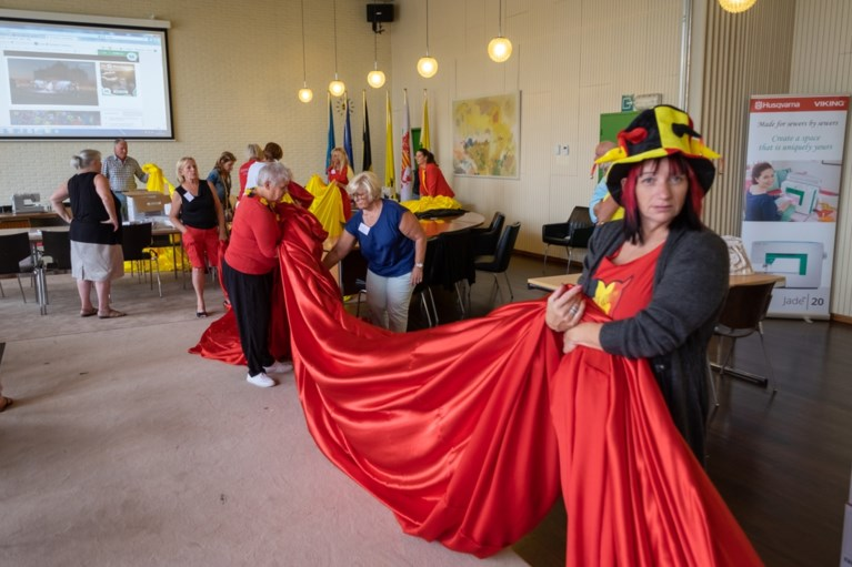 VIDEO. Zonhoven stunt met grootste Belgische vlag van ons land