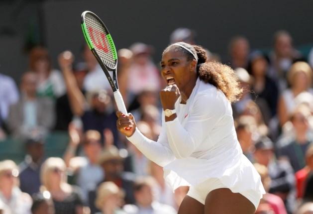 WIMBLEDON. Serena Williams tien maanden na bevalling in halve finale, geen Centre Court voor Federer