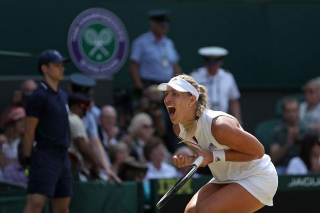 Duitse Kerber klopt Ostapenko en gaat voor tweede keer naar finale Wimbledon