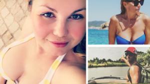 Gluren bij BV's: Lesley-Ann Poppe poseert in bikini
