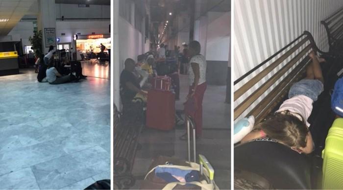 """Belgen moeten nacht doorbrengen op luchthaven van Kreta en zijn razend op TUI: """"Slapen hier tussen kakkerlakken"""""""