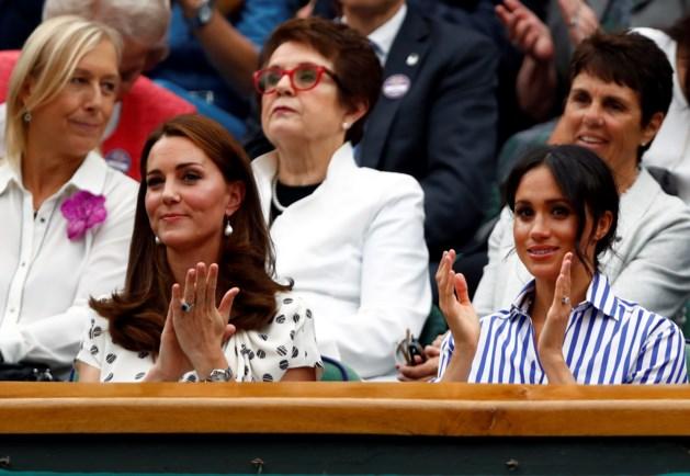 Kate Middleton en Meghan Markle genieten van een dagje Wimbledon zonder mannen