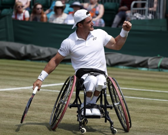 """Rolstoeltennisser Gérard op Wimbledon uit halve finale enkelspel gekegeld: """"Hij gaf niet af"""""""