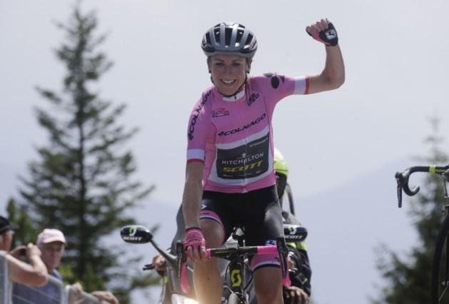 Van Vleuten geeft roze trui extra kleur op Zoncolan in Giro Rosa
