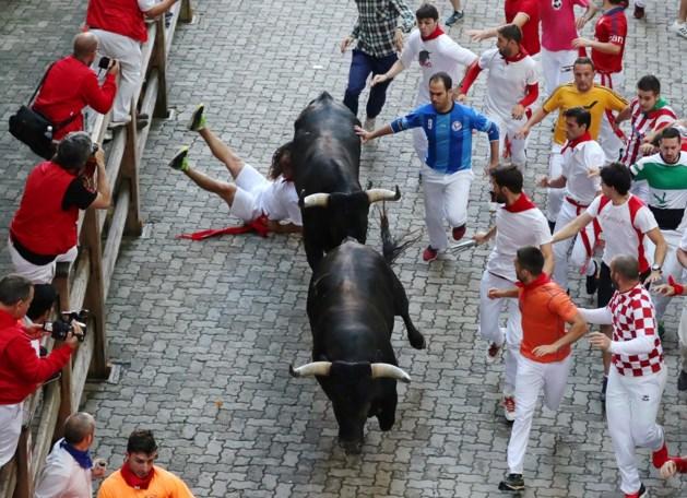 Stierenrennen in Pamplona sluiten af met 31 gewonden