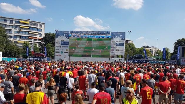 'Slechts' 3000 supporters voor de Rode Duivels in Hasselt
