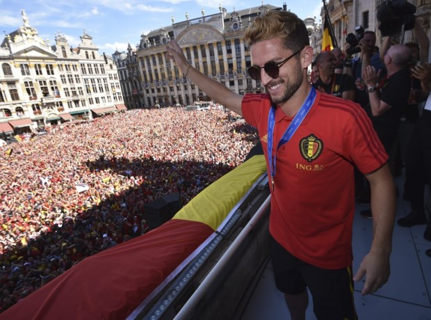 Stad Leuven huldigt Rode Duivel Dries Mertens na historisch WK
