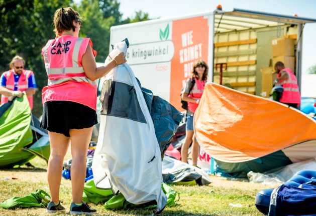 Tonnen achtergelaten kampeermateriaal Tomorrowland binnenkort te huur