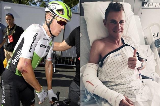 Serge Pauwels na zware val in de Tour nu al succesvol geopereerd aan elleboog