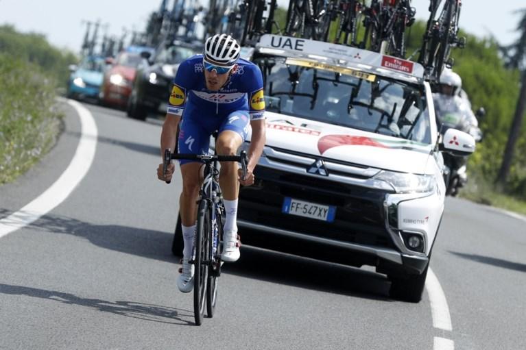 Quick Step Floors ondanks val van Gilbert met Alaphilippe toch weer aan het feest na bewogen etappe in de Tour