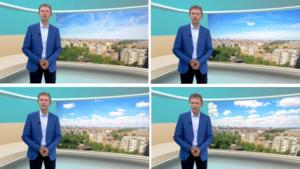 Het weer op Eén vanaf nu met timelapsebeelden op de achtergrond