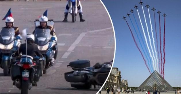 Het kan niet altijd even vlot gaan: Fransen knoeien erop los tijdens defilé voor nationale feestdag