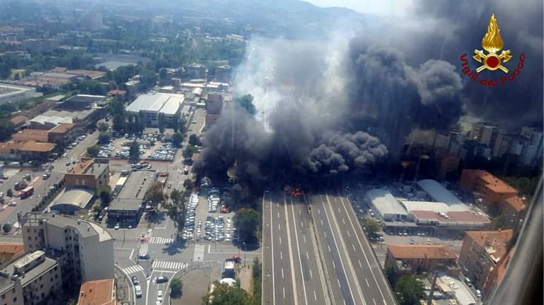 Explosie tankwagen Bologna: één dode en zestigtal gewonden