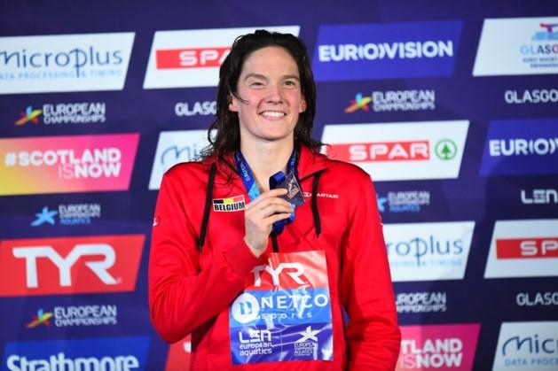 Kimberly Buys bezorgt België eerste en enige medaille op EK zwemmen