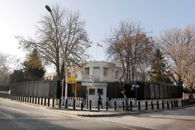 Amerikaanse ambassade beschoten in Ankara