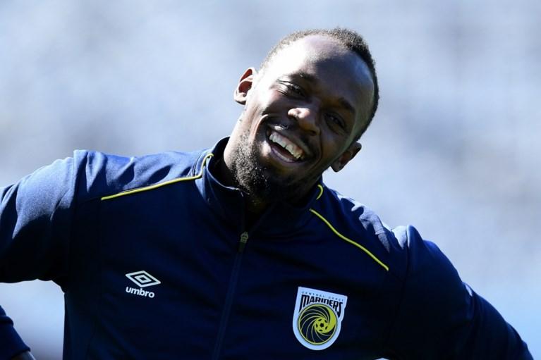 """Usain Bolt traint mee met Australische eersteklasser: """"Ik hoop hier een profcontract af te dwingen"""""""