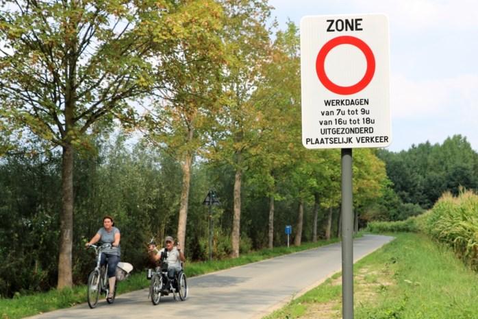 Sluiproute per ongeluk ook afgesloten voor fietstoeristen