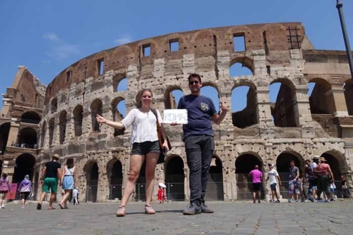Onze journalisten liften naar Rome en maken kennis met de enige Italiaanse verkeersregel