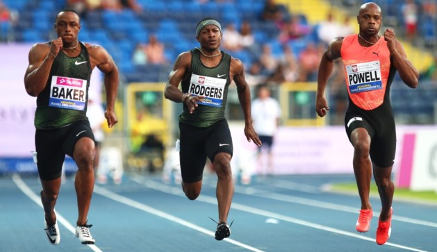 Ronnie Baker loopt vlak voor Memorial snelste 100 meter van het seizoen
