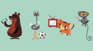 Babbelbeer of tv-tijger? Welk schermdier is je kind?