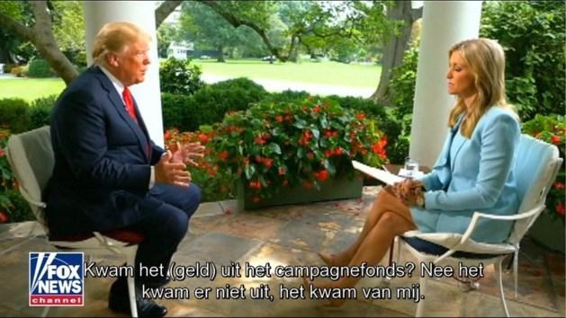 """VIDEO. Trump reageert op onthullingen bij favoriete zender: """"Zwijggeld kwam uit eigen zak, dat is niet illegaal"""""""