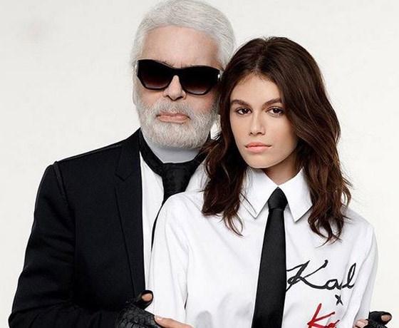 Dochter van Cindy Crawford maakt collectie met Karl Lagerfeld
