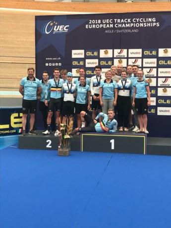 Belgen behalen 13 medailles op EK-piste in Aigle na vruchtbare slotdag en goud voor Degrendele