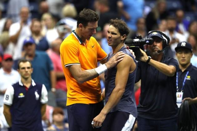 Nadal geeft op en doet Del Potro US Open-finale tegen Djokovic cadeau