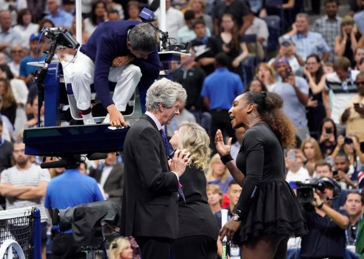 Geen recordzege voor woedende Serena Williams na ongezien theater in finale US Open